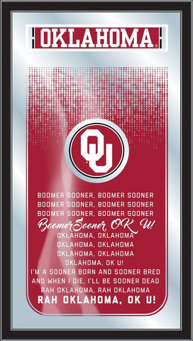 "Oklahoma Sooners Holland Bar Stool Co. Fight Song Mirror (26"" x 15"")"