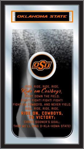 "Oklahoma State Cowboys Holland Bar Stool Co. Fight Song Mirror (26"" x 15"")"