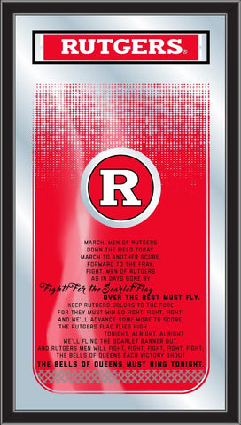 "Rutgers Scarlet Knights Holland Bar Stool Co. Fight Song Mirror (26"" x 15"")"