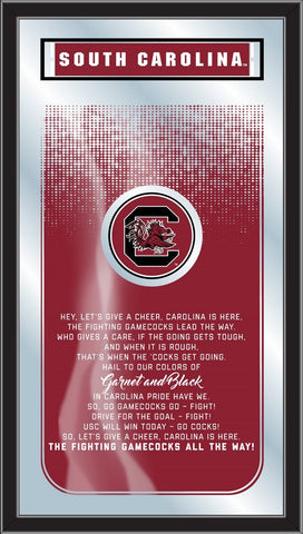 "South Carolina Gamecocks Holland Bar Stool Co. Fight Song Mirror (26"" x 15"")"