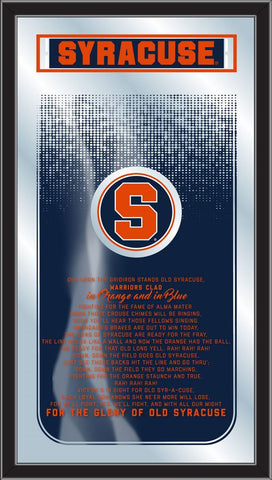"Syracuse Orange Holland Bar Stool Co. Fight Song Mirror (26"" x 15"")"