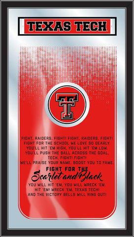 "Texas Tech Red Raiders Holland Bar Stool Co. Fight Song Mirror (26"" x 15"")"