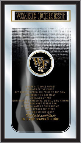 "Wake Forest Demon Deacons Holland Bar Stool Co. Fight Song Mirror (26"" x 15"") - Sporting Up"