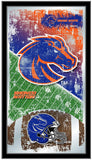 "Boise State Broncos HBS Football Framed Hanging Glass Wall Mirror (26""x15"") - Sporting Up"