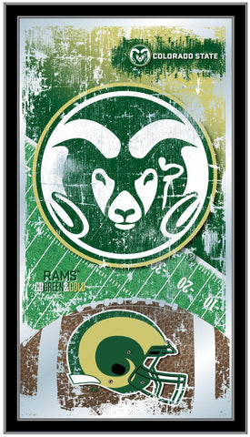 "Colorado State Rams HBS Football Framed Hanging Glass Wall Mirror (26""x15"")"