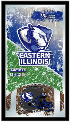 "Eastern Illinois Panthers HBS Football Framed Hang Glass Wall Mirror (26""x15"")"
