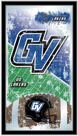 "Grand Valley State Lakers HBS Football Framed Hang Glass Wall Mirror (26""x15"")"