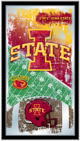 "Iowa State Cyclones HBS Football Framed Hanging Glass Wall Mirror (26""x15"")"
