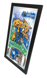 "Kentucky Wildcats HBS Blue Football Framed Hanging Glass Wall Mirror (26""x15"") - Sporting Up"