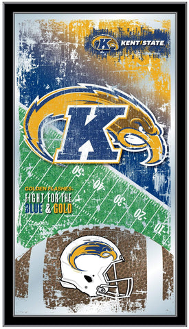 "Kent State Golden Flashes HBS Football Framed Hang Glass Wall Mirror (26""x15"")"