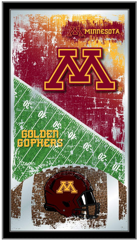 "Minnesota Golden Gophers HBS Football Framed Hanging Glass Wall Mirror (26""x15"")"