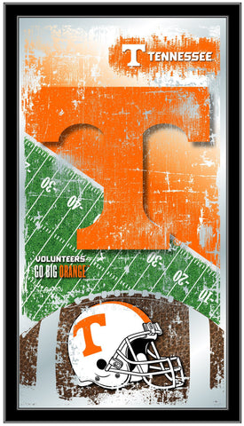 "Tennessee Volunteers HBS Football Framed Hanging Glass Wall Mirror (26""x15"")"