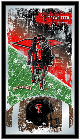 "Texas Tech Red Raiders HBS Football Framed Hanging Glass Wall Mirror (26""x15"")"