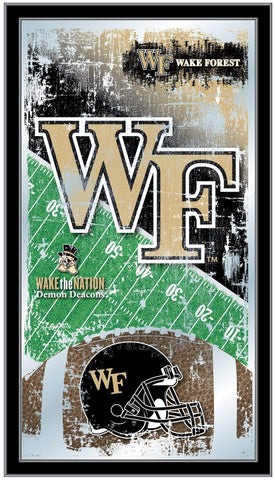 "Wake Forest Demon Deacons HBS Football Framed Hang Glass Wall Mirror (26""x15"")"