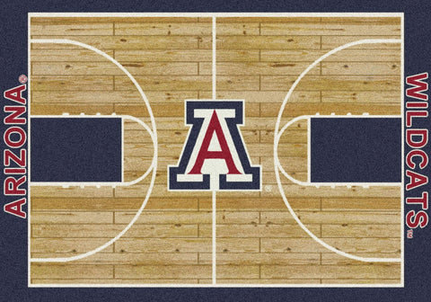 Arizona Wildcats Milliken Basketball Home Court Novelty Area Rug