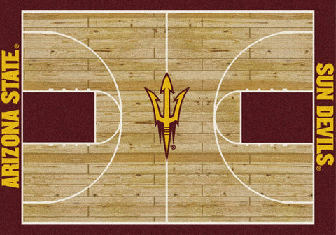 Arizona State Sun Devils Milliken Basketball Home Court Novelty Area Rug