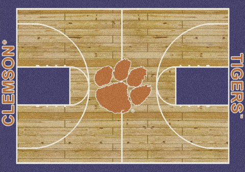 Clemson Tigers Milliken Basketball Home Court Novelty Area Rug