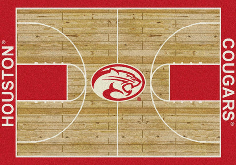 Houston Cougars Milliken Basketball Home Court Novelty Area Rug