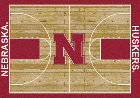 Nebraska Cornhuskers Milliken Basketball Home Court Novelty Area Rug