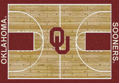 Oklahoma Sooners Milliken Basketball Home Court Novelty Area Rug