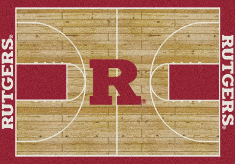 Rutgers Scarlet Knights Milliken Basketball Home Court Novelty Area Rug