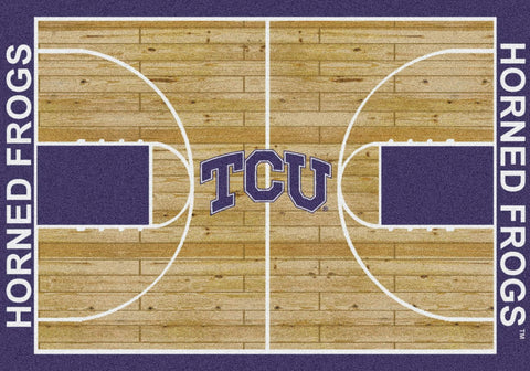 TCU Horned Frogs Milliken Basketball Home Court Novelty Area Rug