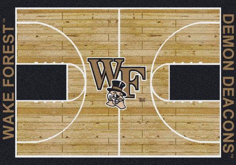 Wake Forest Demon Deacons Milliken Basketball Home Court Novelty Area Rug