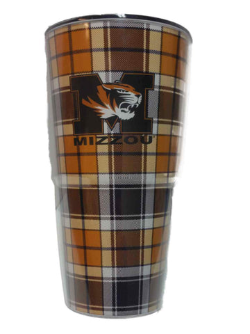 Shop Missouri Tigers ThermoServ Gold Black Patterned Reusable Insulated Cup