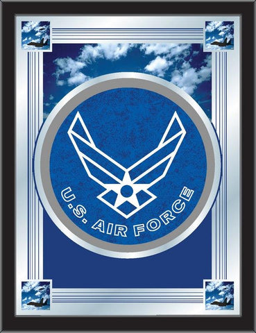 "U.S. Air Force Holland Bar Stool Co. Collector Blue Logo Mirror (17"" x 22"")"