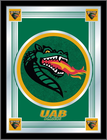 "UAB Blazers Holland Bar Stool Co. Collector Green Logo Mirror (17"" x 22"")"