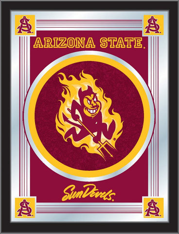 "Arizona State Sun Devils Holland Bar Stool Co. Collector Logo Mirror (17"" x 22"")"