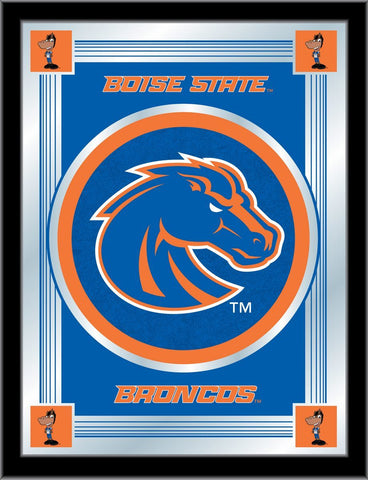 "Boise State Broncos Holland Bar Stool Co. Collector Blue Logo Mirror (17"" x 22"")"