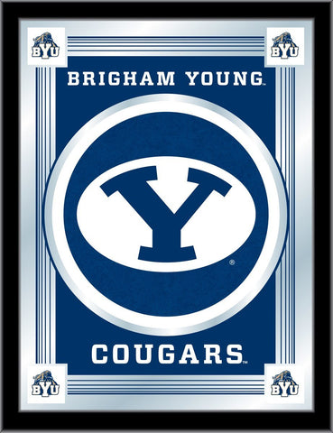 "BYU Cougars Holland Bar Stool Co. Collector Blue Logo Mirror (17"" x 22"")"