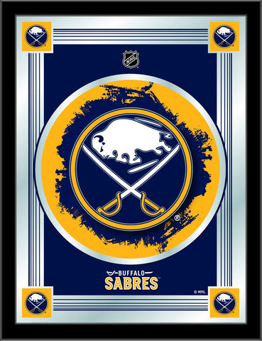 "Buffalo Sabres Holland Bar Stool Co. Collector Blue Logo Mirror (17"" x 22"")"