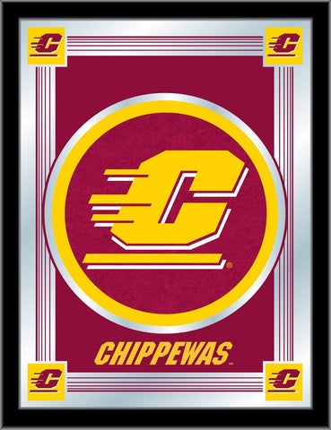 "Central Michigan Chippewas Holland Bar Stool Co. Red Logo Mirror (17"" x 22"") - Sporting Up"
