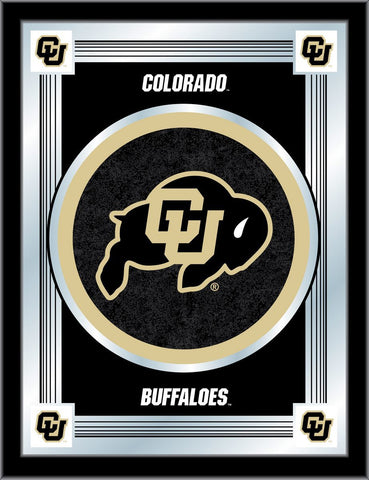 "Colorado Buffaloes Holland Bar Stool Co. Collector Black Logo Mirror (17"" x 22"")"
