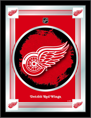 "Detroit Red Wings Holland Bar Stool Co. Collector Red Logo Mirror (17"" x 22"")"
