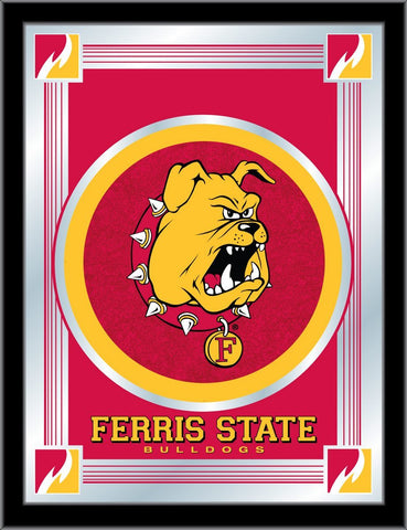"Ferris State Bulldogs Holland Bar Stool Co. Collector Logo Mirror (17"" x 22"") - Sporting Up"