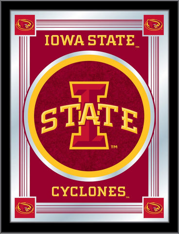 "Iowa State Cyclones Holland Bar Stool Co. Collector Red Logo Mirror (17"" x 22"")"