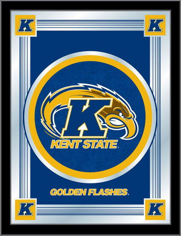 "Kent State Golden Flashes Holland Bar Stool Co. Blue Logo Mirror (17"" x 22"")"