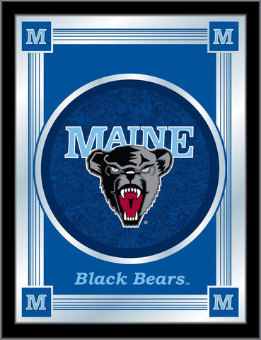 "Maine Black Bears Holland Bar Stool Co. Collector Blue Logo Mirror (17"" x 22"")"