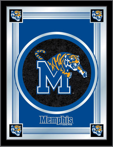 "Memphis Tigers Holland Bar Stool Co. Collector Blue Logo Mirror (17"" x 22"") - Sporting Up"