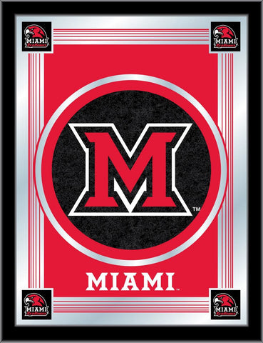 "Miami University Redhawks Holland Bar Stool Co. Red Logo Mirror (17"" x 22"")"
