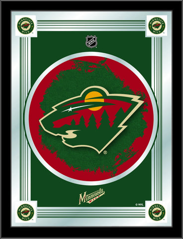 "Minnesota Wild Holland Bar Stool Co. Collector Green Logo Mirror (17"" x 22"")"