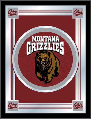 "Montana Grizzlies Holland Bar Stool Co. Collector Red Logo Mirror (17"" x 22"") - Sporting Up"