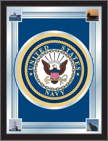 "United States U.S. Navy Holland Bar Stool Co. Collector Logo Mirror (17"" x 22"")"