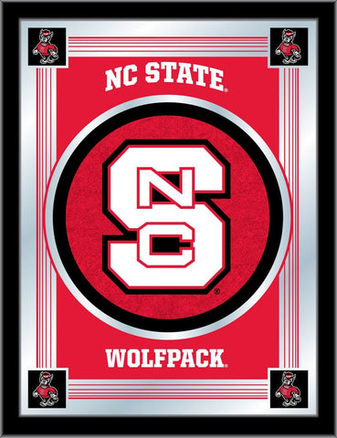 "NC State Wolfpack Holland Bar Stool Co. Collector Red Logo Mirror (17"" x 22"")"