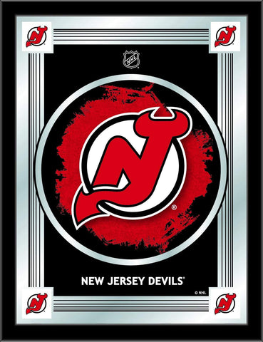 "New Jersey Devils Holland Bar Stool Co. Collector Red Logo Mirror (17"" x 22"")"