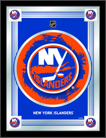 "New York Islanders Holland Bar Stool Co. Collector Blue Logo Mirror (17"" x 22"")"