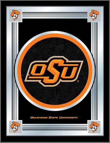 "Oklahoma State Cowboys Holland Bar Stool Co. Collector Logo Mirror (17"" x 22"")"